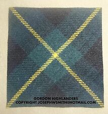 WW2 British Army,Gordon Highlanders tartan patches insignia, for Tam O Shanter