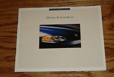 Original 1992 Honda Full Line Sales Brochure 92 Accord Civic Prelude