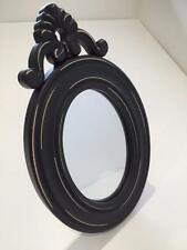 New VICTORIAN STYLE MIRROR in Black with Ornate Scroll Shabby Chic Vintage Home
