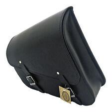 Ledrie Sacoche de selle en cuir noir 12 Litres, pour Harley - Davidson Sportster
