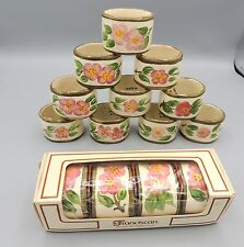 14 Franciscan Desert Rose Napkin Rings Oval 4 NIB England 10 with Tags Excellent