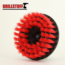 "Heavy Duty 5"" Round Scrub Brush with Power Drill Attachment"