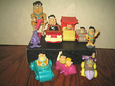 """9 RARE HTF HANNA-BARBERA FRED FLINTSTONE COLLECTABLE FIGURE'S LOT  """"SOLD AS IS"""""""
