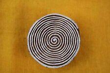 Decorative Block Indian Handcarved Wood Textile printing circle stamp handmade