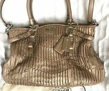 Coach Madison Gathered Leather Carryall ( Taupe) Retail 598.00!!! Wow! L@@k!!!