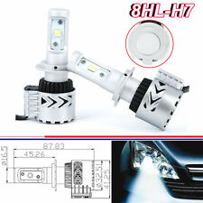 80W 12000LM H7 CREE LED Headlight Kit Low Beam Light Bulbs 6500K White Jeep 12V