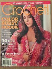 Crochet! Color Burst Hoodie Easy Patterns Projects Spring 2015 FREE SHIPPING!