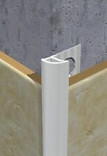 PVC White Tile Trim confezione da 10 - 10mm High - 2,5 m di lunghezza (25m in totale)