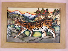 MOORCROFT Lynx Revealed Mountain Cat Wall Plaque Trial 1st/Best Quality