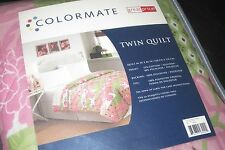 Colormate Quilt Pattern Savannah Twin Size NIP