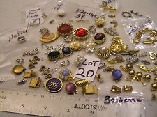 HUGE 120 Vtg Clasp Rhinestone + signed Jewelry Findings Repair Bracelet Necklace