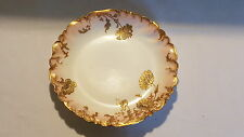 Pink rim gold flower design vintage Victorian antique plate platter
