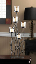 """LARGE black 26"""" tall tree Branch Twig Candelabra Candle holder sculpture statue"""