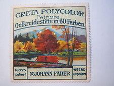 Johann Faber - Creta Polycolor feinste Oelkreidestifte in 60 Farben Reklamemarke