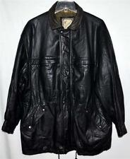 Luis Alvear Luciano Black Soft Thick Leather Mens Barn Jacket Coat Sz L