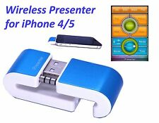 Compact Wireless Professional Presenter Remote for iPhone 4/5, Free App Download
