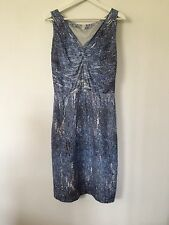 NEW Nicole Farhi desk to dinner blue day dress UK size 8, EU 34