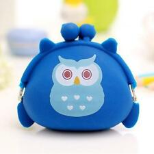 Women Girls Owl Silicone Jelly Wallet Change Bag Key Pouch Coin Purse Zippercase