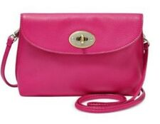 Fossil Monica NWT Pink LEATHER Cross Body Shoulder Bag Purse AUTHENTIC $125