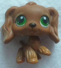 Littlest Pet Shop Brown Cocker Spaniel With Green Eyes #252 Rare
