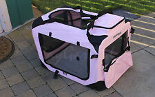Pink Small Pet Carrier Crate Cage Cat Dog Bag Travel Comfort Soft Portable New