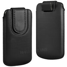 PREMIUM PU LEATHER PULL FLIP TAB CASE COVER POUCH WITH STRAP FOR SAMSUNG PHONES