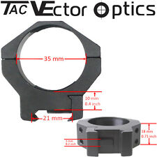 Vector Optics Tactical Mark 35mm Scope Rings Picatinny Mount Fit Schmidt Bender