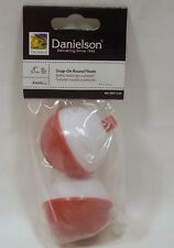 "Package of 2 Danielson 2"" Red & White Snap On Round Fishing Floats Bobbers"