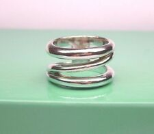 TIFFANY & CO STERLING SILVER 925 WIDE ZIG ZAG BAND RING