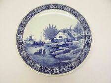 Royal Sphinx Maastricht Delfts Holland P Regout Figural Scene Charger Blue Plate