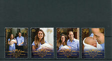 Fiji 2013 MNH Royal Baby Birth Prince George 4v Set William Kate Middleton