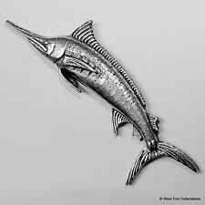 Swordfish Marlin Pewter Pin Brooch -British Hand Crafted- Angling Fishing Fish