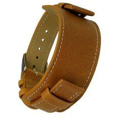 Uhrarmband mit Unterlage hellbraun - buckle-up - 16 mm Ersatzband