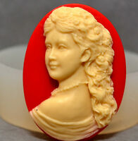 LADY CAMEO - SILICONE MOLD sisi food use resin fimo plaster polymer clay mould