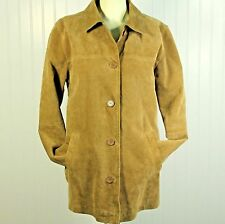 MODA International Genuine Leather Suede Jacket Womens Small Lined Car Barn Coat
