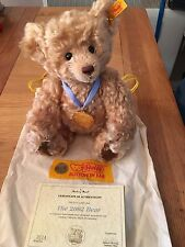 """Steiff Button In Ear """"The 2002 Bear"""" Authentication Included"""