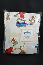 Pottery Barn Kids Dr. Seuss The Grinch & Max Flannel Sheet Set Full #6
