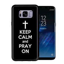 Black Keep Calm and Pray On For Samsung Galaxy S8 Plus + 2017 Case Cover by Atom