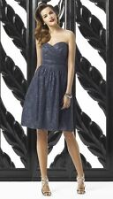 NEW DESSY COLLECTION Strapless Rococo Lace Overlay DRESS SIZE 8 $276 GRAY