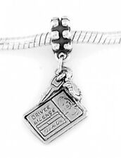 STERLING SILVER DANGLE DRIVER'S LICENSE EUROPEAN BEAD