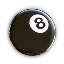Badge 8 BALL EIGHT BALL billard chance lucky rockabilly kustom rock punk Ø25mm