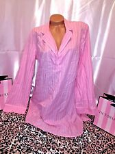 Victorias Secret Sleepshirt Nightie Cotton Long Sleeve Pink Large