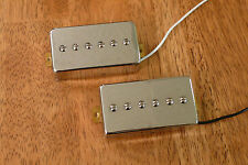 HUMBUCKER SIZED P90 PICKUP SET ALNICO 2 MAGNETS IN CHROME