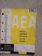 1965 AEA Original Equipment Electrical & Fuel Systems Parts Catalog Car Truck  T