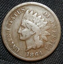 1864 L on Ribbon Indian Head Cent - Fine !!