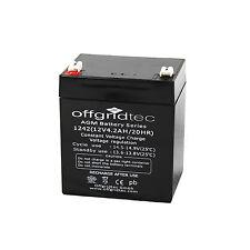 Offgridtec ® AGM 4,2ah 20hr 12v-batteria solare batteria estremamente cicli fisso