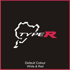 Honda Type R Nurburgring Circuit Decal, Track, Vinyl, Sticker, N2030