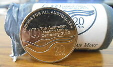 2010 ATO Australian tax Office 20c Coin UNC Superb EX Security Roll