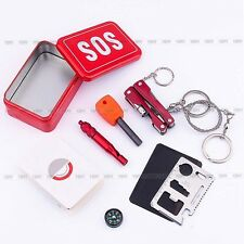 New Outdoor Camping Hiking Survival Emergency Kit Self-help Box SOS Equipment