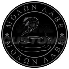 """3"""" Molon Labe Decal Sticker Dont Tread On Me Gadsden Snake Tactical Subdued"""